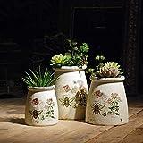 OYBB Ornamenti Statue Vasi Fatti a Mano in Terracotta Anticato Semplice Cono carnoso piantare vasi da Giardino Decorazione Domestica