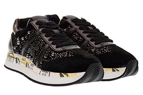 PREMIATA faible femmes chaussures de sport Conny BLACK 1621 black