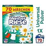 Weißer Riese Universal Pulver Aromatherapie Bali, Vollwaschmittel, 1er Pack (1 x 70 Waschladungen)