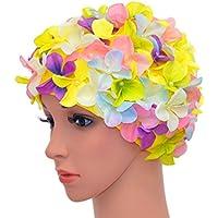 Medifier vintage floreale petalo retro Swim Bathing Caps per donne 51e2d35e6fa9
