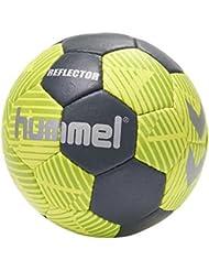 Hummel Handball Größe 0, 1, 2 oder 3 für Spiel & Training - REFLECTOR HB - Harz Trainingsball Freizeit & Sport - Hand Ball in Gelb & Blau mit Air-Trap-Ventil