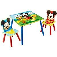 Preisvergleich für Familie24 3tlg. Holz Kindersitzgruppe Sitzgruppe Auswahl Frozen Cars Minnie Maus Mickey Maus Winnie Pooh Tisch + 2X Stuhl (Mickey Maus)