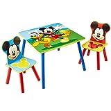 Familie24 3tlg. Holz Kindersitzgruppe Sitzgruppe Auswahl Frozen Cars Minnie Maus Mickey Maus Winnie Pooh Tisch + 2X Stuhl (Mickey Maus)
