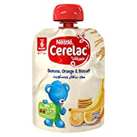 Nestlé CERELAC Fruits Puree Pouch Banana Orange Biscuit 90g