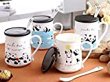 #4: Satyam Kraft Panda Mugs for gifts, gift,anniversary,valentine,love 1 pcs 450 ml(design may vary)