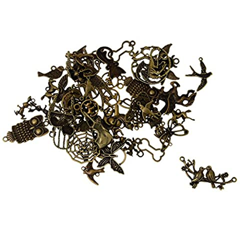 MagiDeal Pendentif Charms Animaux Bronze Antique Assortis Bricolage(100g)