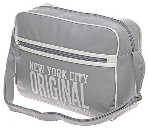 XXL alla moda zaino Scuola Lavoro Ufficio Uni-ball Bag City Bag Borsa bordo Messenger Borsa a tracolla borsa lavoro uomo... multicolore bianco grau