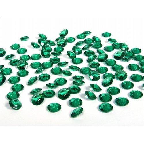 SiDeSo Dekosteine smaragd grün 12mm Diamanten 100 Stück Acryl Tischdeko Hochzeit