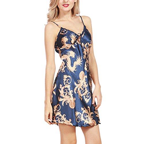 Zhhlaixing Ladies Lace Nightwear Sleepwear Dressing Gown Slip Chemise Babydoll Nighty Lingerie Royal Blue