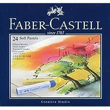 FABER CASTELL 21203 Pastel Carré Tendre Goldfaber Studio 66mm Brillant Intense Résistance Lumière Lot de 24 Rose