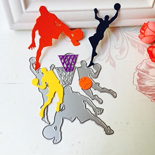 masrin New Cute Cartoon Muster Metall schneiden stirbt Schablonen DIY Scrapbooking Album Papier Karte Basketball (Si Cookie Cutter)