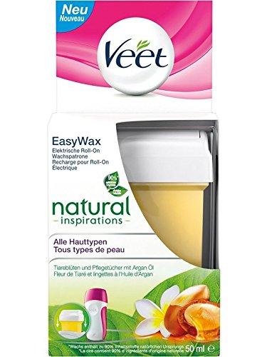 Veet EasyWax Nachfüll-Patrone essential inspirations, für alle Hauttypen, 1 Stück, 50 ml
