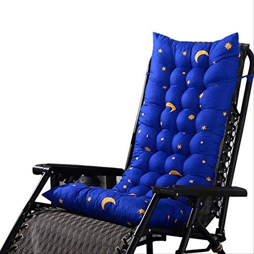 AINIYUE Sonnenliege Kissen Pad, Liege Kissen, Liege Liege Kissen Mat, Outdoor Deck Chair Soft Kissen 125x48cm blau -