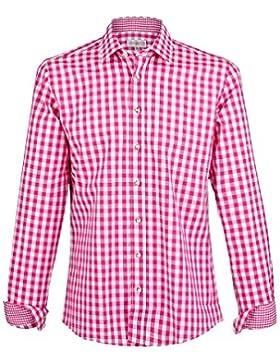 Herren Almsach Karohemd Slim-Fit Vichy pink 'Tobias', pink,
