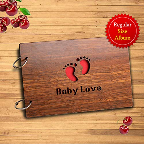 Sehaz Artworks Baby Love Scrapbook Photo Album for Memorable Gift on Born Baby Birthdays, Niece, Nephew First Birthday for Couples (22 cm x 16 cm x 4 cm, Brown)