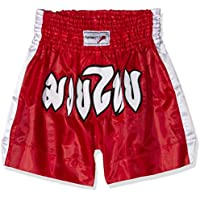 TurnerMAX boxeo Muay Thai Corto Rojo Pequeño
