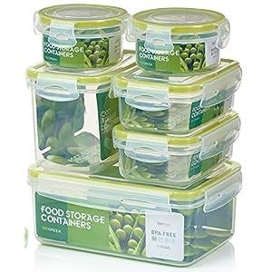 Zoë&Mii auslaufsichere Lebensmittelbehälter aus BPA-freiem Plastik - Hochwertige und luftdichte Meal Prep Boxen - 14-Teiliges Set als Vorratsdosen Snackbox Brotdose oder Lunchbox