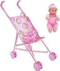 Me&U Baby Carriage Stroller Trolley Nursery Furniture Toys for Barbie Doll (Random Style)