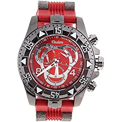 WINOMO Oulm Men Analogue Quartz Wrist Watch (Red)