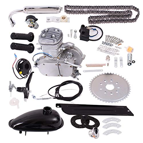 Goplus fahrrad motor-kit 80cc 2-takt-motorrad benzin motorisierte gasmotor fahrrad motor-kit (Fahrrad Motor Benzin)