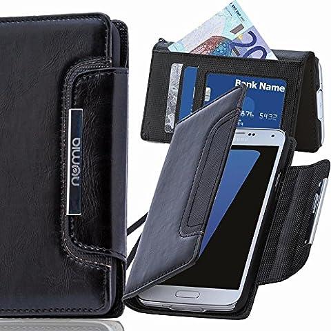 Original Numia Design Luxus Bookstyle Handy Tasche LG G3 (D855) in Schwarz Flip Style Case Cover Gehäuse Etui Bag Schutz Hülle NEU