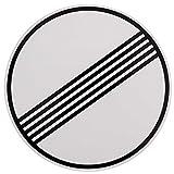 ORIGINAL Verkehrszeichen Nr. 282 ENDER SÄMTLICHER STRECKENVERBOTE 420 mm DN Verbotsschild Verkehrsschild RAL-Gütezeichen Schild Verkehrsschilder Schilder Warnschild Straßenschild Straßenzeichen Warnzeichen