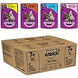 Whiskas 7+ Senior Katzenfutter Fisch- und Geflügelauswahl in Gelee, 84 Beutel (1 x 84 x 100 g)
