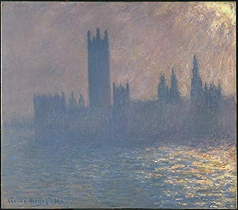 Claude Monet - Houses of Parliament Sunlight Effect - Extra Large - Matte Print