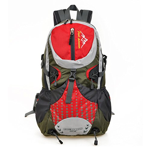 SKYSPER 30L Mochila Multifuncional de Senderismo Trekking Mochila Nylon Impermeable Morral Que acampa Mochila Viaje al Aire Libre