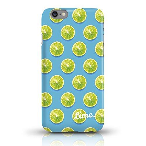 """JUNIWORDS Handyhüllen Slim Case für iPhone 6 / 6s - Motiv """"Hirsch mit Triangel-Muster"""" Schutzhülle für Ihr Smartphone Limette Design 3"""