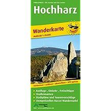 Hochharz: Wanderkarte mit Stadtplänen Braunlage und Schierke, Ausflugszielen, Einkehr- & Freizeittipps, Straßennamen und Stempelstellen Harzer ... GPS-genau. 1:25000 (Wanderkarte / WK)