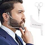 Willow & Smith Beard Shaping Template Plus Beard Comb With Scissor All-In-One Tool