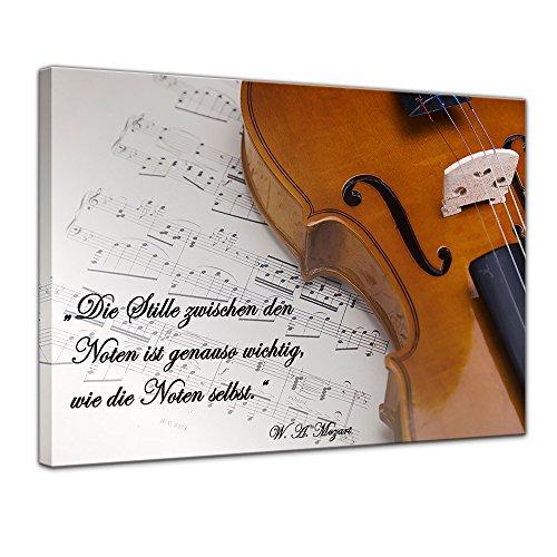 Leinwandbild mit Zitat – Die Stille zwischen den Noten ist genauso wichtig, wie die Noten selbst. – (Wolfgang Amadeus Mozart)