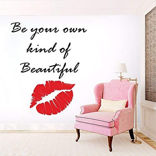 Cczxfcc Make-Up-Zitat-Lippenwand-Aufkleber-Schönheits-Salon-Dekorations-Kosmetik Bilden Künstler-Wand-Abziehbild-Vinyllippen-Fenster-Wandgemälde