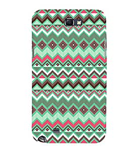 Abstract Zig Zag Design 3D Hard Polycarbonate Designer Back Case Cover for Samsung Galaxy Note 2 :: Samsung Galaxy Note 2 N7100