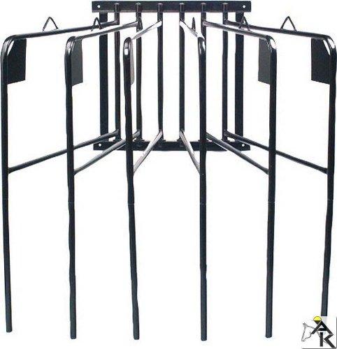 Pferde Deckenhalter, 6 armig, schwenkbar, schwarz| Pferde Deckenhalterung sechsarmig