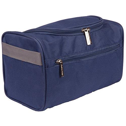 Borsa da viaggio appendibile per uomo borsa da bagno borsa lavabile kit da barba – borsa con dimensioni da viaggio perfetta per i prodotti per la cura e gli articoli da bagno (blu)