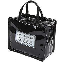 iSuperb - Bolsa para el almuerzo, impermeable, bolsa para el almuerzo enfriador aislado, bolsa de viaje con cierre de cremallera para hombres y mujeres