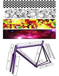 5 PCS refrescan las decoraciones de la bici la etiqueta engomada fija de la bicicleta del engranaje para el marco de la bicicleta - 02