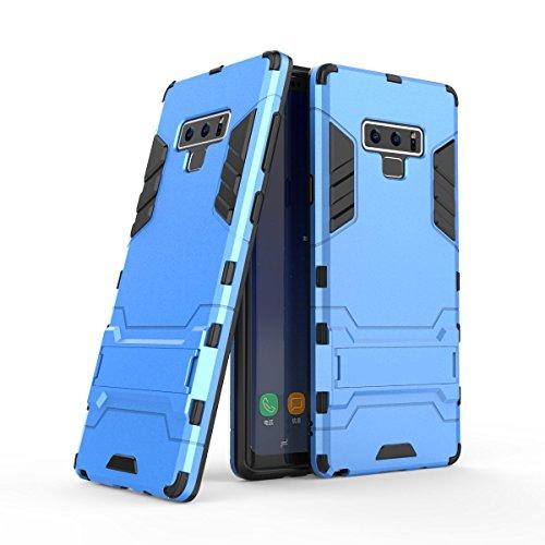 Uzer Schutzhülle für Samsung Galaxy Note 9, stoßfest, Hybrid-Doppelschicht, Polycarbonat, weiche Silikon-Innenseite, Kratzschutz, Kombi-Schutz, Schutzhülle mit Standfuß für Samsung Galaxy Note 9, blau