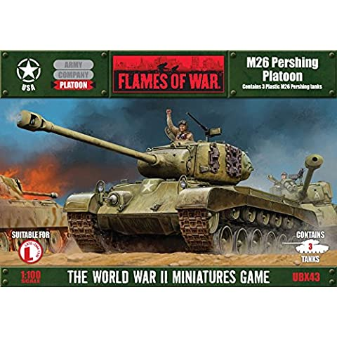 Flames Of War (WWII): (USA) M26 Pershing Platoon by Flames of War