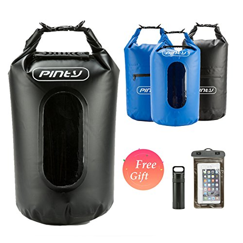 Pinty 20L Wasserdichte Tasche Waterproof Dry Bag Wasserdichter Packsack Wasserdichter Handybeutel mit verstellbarem Schultergurt für Kajak Boot Kanufahren Angeln Segeln Schwimmen