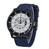 IG-Invictus Militär Herren Quarz Armee Uhr Schwarz Zifferblatt Datum Luxus Sport Armbanduhr XINEW Leinwand Kalender Uhr