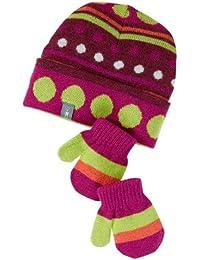 Smartwool Merino Set Mütze und Handschuhe, Dot Hat/Mitt Set berry, 6-12 Monate