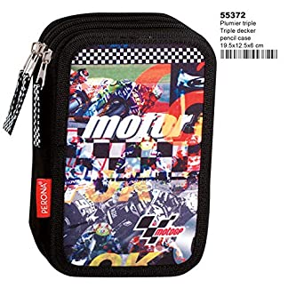 Montichelvo Montichelvo Triple Pencil Case MT GP Clinch Estuches, 20 cm, (Multicolour)