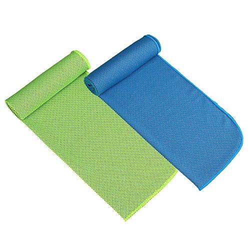 Paquete de 2 toallas de enfriamiento para deportes, entrenamiento, gim