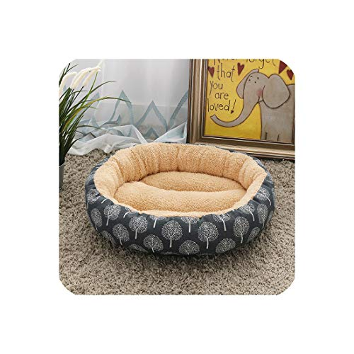 Eternity Bliss Printing Dog Bed for Small Medium Dog Warm Non Slip Pet Blanket Indoor Autumn Winter Corduroy Pet Bed,Gray,M