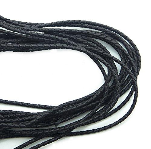 Hand® S-8 * 6-HP dunkle Schokolade Braun PU Kunstleder geflochten Trim zum verschönern von Kleidung, Zubehör 4mmW - 5 m -