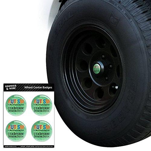 Autismus ES NICHT einen Fehler Verarbeitung ES IST EINE andere System Tire Rad Center Gap resin-topped Abzeichen Aufkleber–6,1cm (6,1cm) Durchmesser