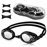 Vegena Schwimmbrillen, Erwachsene-Schwimmbrille Objektiv UV-Schutz wasserdichter Antibeschlag Training Taucherbrille für Unisex Erwachsene Herren